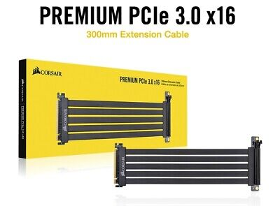 """genuine"" CORSAIR Premium PCIe 3.0 x16 Extension Cable 300mm -Freeship&Tracking"
