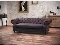 New Chesterfield 3 Seater Sofa In Union Jack Print. Perfect For The Patriotic Lover Of Fine Things.