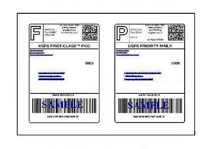 100 Easy Peel Quality Round Corner 8.5 X 11 Shipping Labels For Usps Ups Paypal