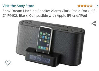 Sony dream Machine Alarm Clock Radio iPod Dock