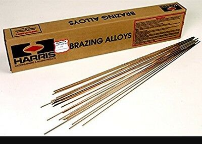 8 Rods Lot Harris Stay Silv 15 15 Silver Brazing Alloy Rods