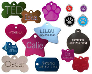 PET TAG DOG CAT ENGRAVED ID  WITH SPLIT RING FREE SHIPPING