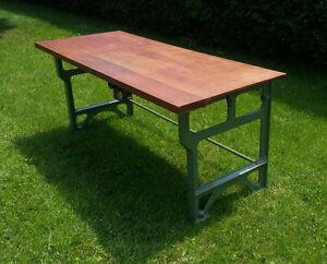 Table en fonte originale antique industrielle vintage