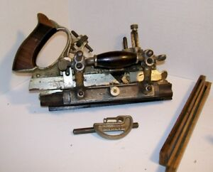 STANLEY NO. 55 COMBINATION PLANE WITH FOUR BOXES OF CUTTING IRON