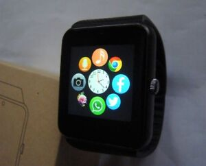 BRAND NEW BLACK SMART WATCH BLUETOOTH FOR SAMSUNG ANDROID & iOS