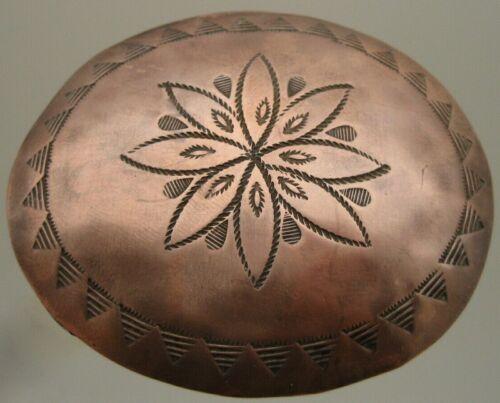 Rare Navajo old Garden of the Gods Trading Post Awa Tsireh ? Copper Pin / Brooch