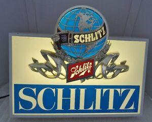 ADVERTISING SIGN - SCHLITZ BEER - WILL LIGHT UP + 3D