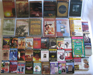 Single Audio Book Cassettes 45 Titles Choice Pre-Owned