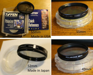 Polarizer Filter / Filtre Polarizant *USA & Japan* 49 52 55mm