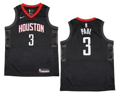 Youth Nike Houston Rockets #3 Chris Paul Black Swingman Jersey S (8)