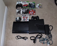 Xbox console  and Ps3 console and Games