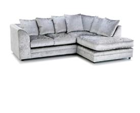 🍀Crushed Velvet Sofa 3+2 Sofa or corner suite BRAND NEW
