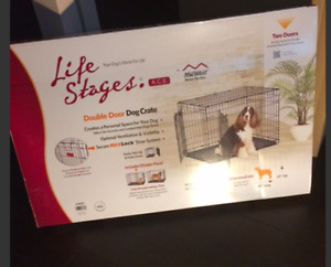 "Double Door Dog Crate Large (36"") NEW"