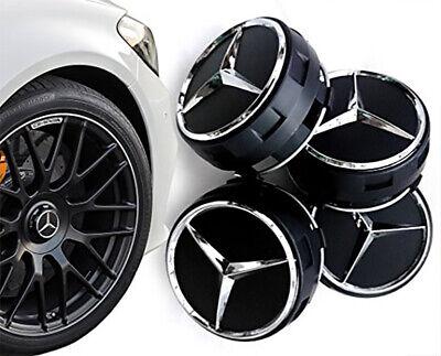 Mercedes Nabendeckel Schwarz 75mm AMG Edition Radkappen Felgendeckel NEU online kaufen