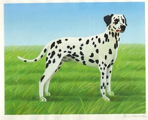 """SPOTS"" 2004 ORIGINAL UNIQUE CHILDREN'S BOOK ART: DALMATIAN DOG"