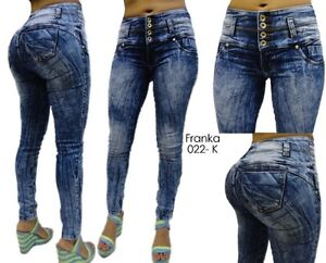 Hot Push Up Stretch Levanta Cola Butt Lift Jeans Columbian Style