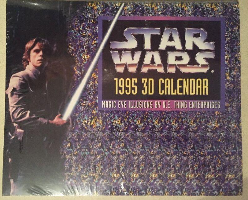 Star Wars 1995 3D Calendar Brand New Factory Sealed