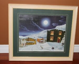 BEAUTIFUL FRAMED WINTER PICTURE
