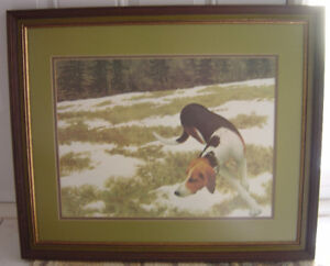 """New Low Price. """"Hound In The Field"""" Print By Alex Colville"""