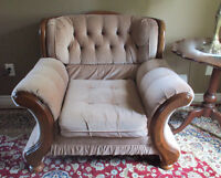Vintage solid wooden armchair by Edgewood Furniture