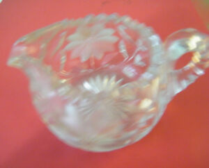 "BEAUTIFUL HERITAGE CRYSTAL ""GRAVY BOAT"""