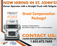Straight Truck Owner Operator Needed