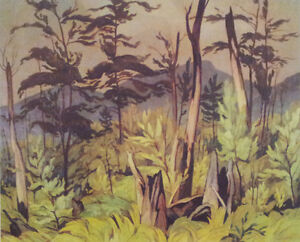 """A.J. Casson """"Forest Tangle"""" Limited Edition Lithograph"""