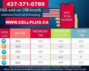 UNLIMITED CELL PHONE PLANS $53-12GB $60-16GB $70-20GB $80-30GB