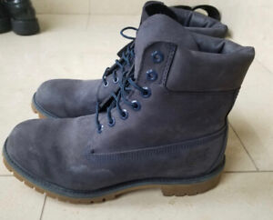NEED GONE ASAP: Timberland Navy Boots. Great Condition.