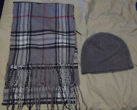 2 scarfs and hat