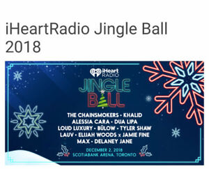 Selling a pair  of 2018 Jingle Ball tickets
