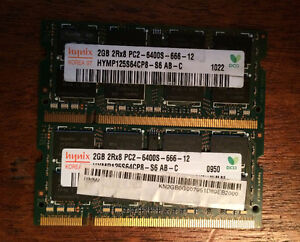 4 GB (2X2) LAPTOP RAM (MATCH PAIR)