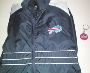 Buffalo Bills Reebok Large Windbreaker Jacket plus Bonus