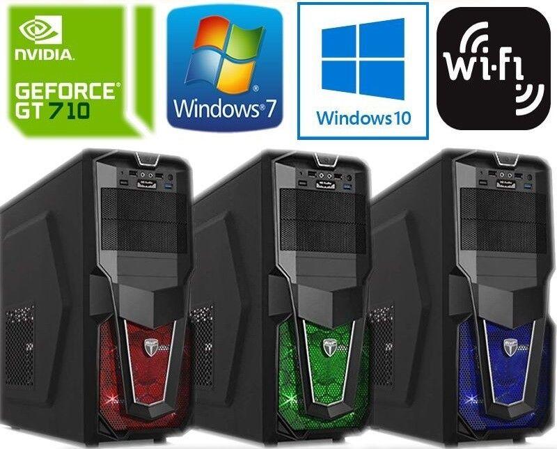 Computer Games - GAMING COMPUTER PC WINDOWS 10 CORE 2 DUO @ 3.00GHz 4GB RAM 160GB NEW HDMI WIFI