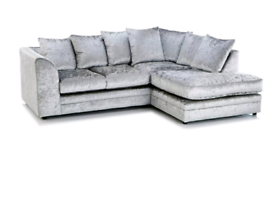 Crushed Velvet Sofa 3+2 Sofa or corner suite BRAND NEW