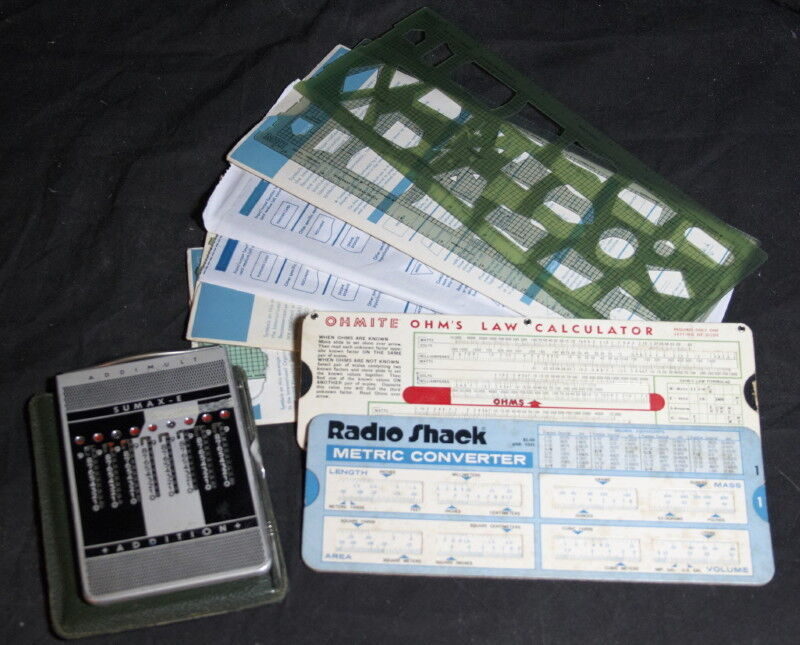 Vintage AddiMult Mechanical Calculator with Conversion Charts