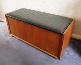 Retro Mid Century Teak Blanket Box