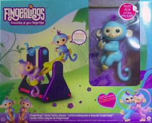 *NEW*2 Fingerlings set-Teeter Totter Playset-See Saw-Willy-Milly
