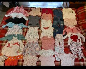30 items 0-3 months girls clothes bundle