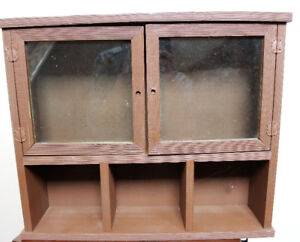 Wooden Wall Cabinet with cubbies