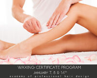 3 Day Waxing Certificate Weekend Program - Add to your Resume!