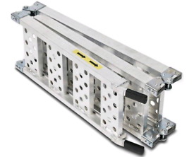Lightweight aluminium triple folding motorbike loading ramps