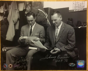 RED KELLY & JOHNNY BOWER Double Autographed Inscribed NHL Photo