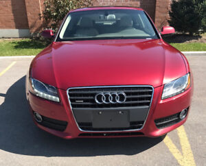 2010 Audi A5 2.0L Premium Red on Tan color combo!