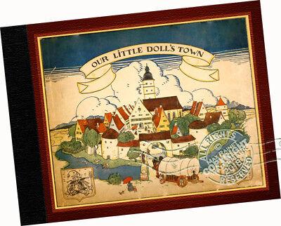 Our Little Dolls Town 1923 Else Wenz-Vietor PAPER DOLLS Villiage McLoughlin Bros