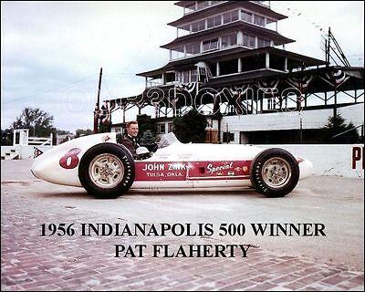 1956 Indy 500 Winner Pat Flaherty Racing Photo 8X10   Buy Any 2 Get 1 Free