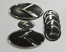 7pcs 3D black carbon K Emblem for KIA new Forte YD K3 2014-2015