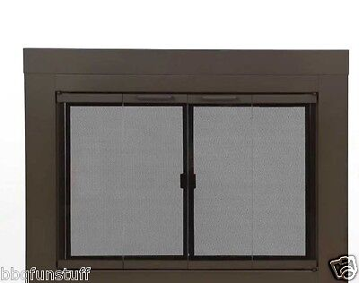 Pleasant Hearth Fenwick Cabinet Style Fireplace Screen & Arc