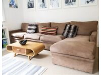 Large L shaped sofa 6 to 8 seater high quality faux suede