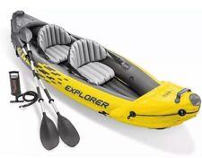 Intex Explorer K2 Kayak 2-Person Inflatable Kayak Set with Aluminum Oars and Hi